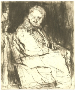 Newman etching - Homeless Man at Tenleytown