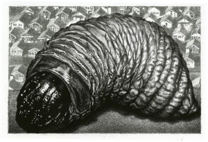 "Graphic Chemicals Purchase Award: ""Turf"" by Curtis Bartone, two-plate aluminum lithograph"