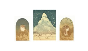 """""""Altarpiece"""" by Elise Isom, from the 2012 Excellence in Printmaking Exhibition."""