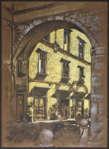 Lucca Archway by Deron DeCesare