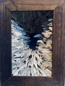 Mo' Problems by Cianna Valley | One Part of Two-Part Etching Diorama