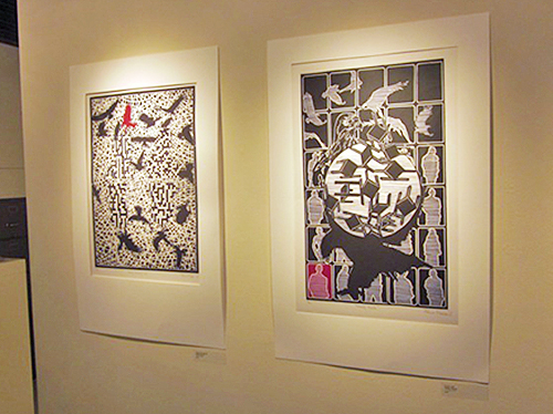 Two prints by South African Voices exhibition artist Phillip Mabote.