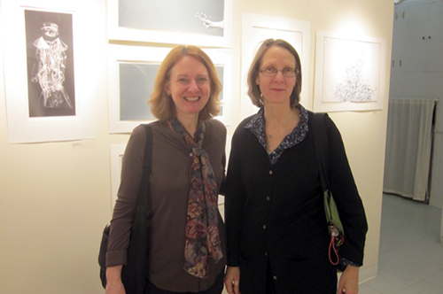 Kate Maynor, Chief Paper Conservator at the Smithsonian American Art Museum (left), and Amy Alderfer (right).