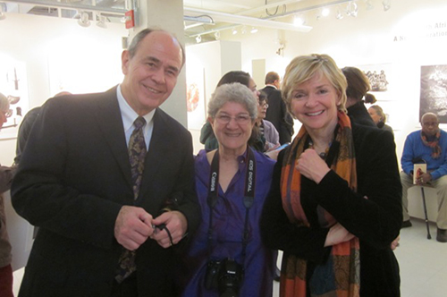 Dr. Raoul (far left) and Judy (far right) Wientzen with Cecilia Rossey (center).