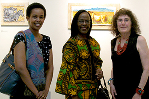 Marian Osher (right) with Ambassador Liberata Mulamula of Tanzania (middle) and Tanzanian Tourism Officer Mrs. Immaculata Diyamett (left). Photo by Carolyn Pomponio.