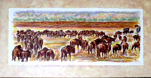 """Herd of Wildebeests"" 