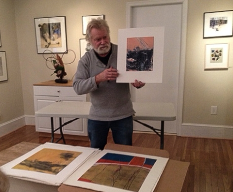 Dan Welden visiting Washington Printmakers Gallery